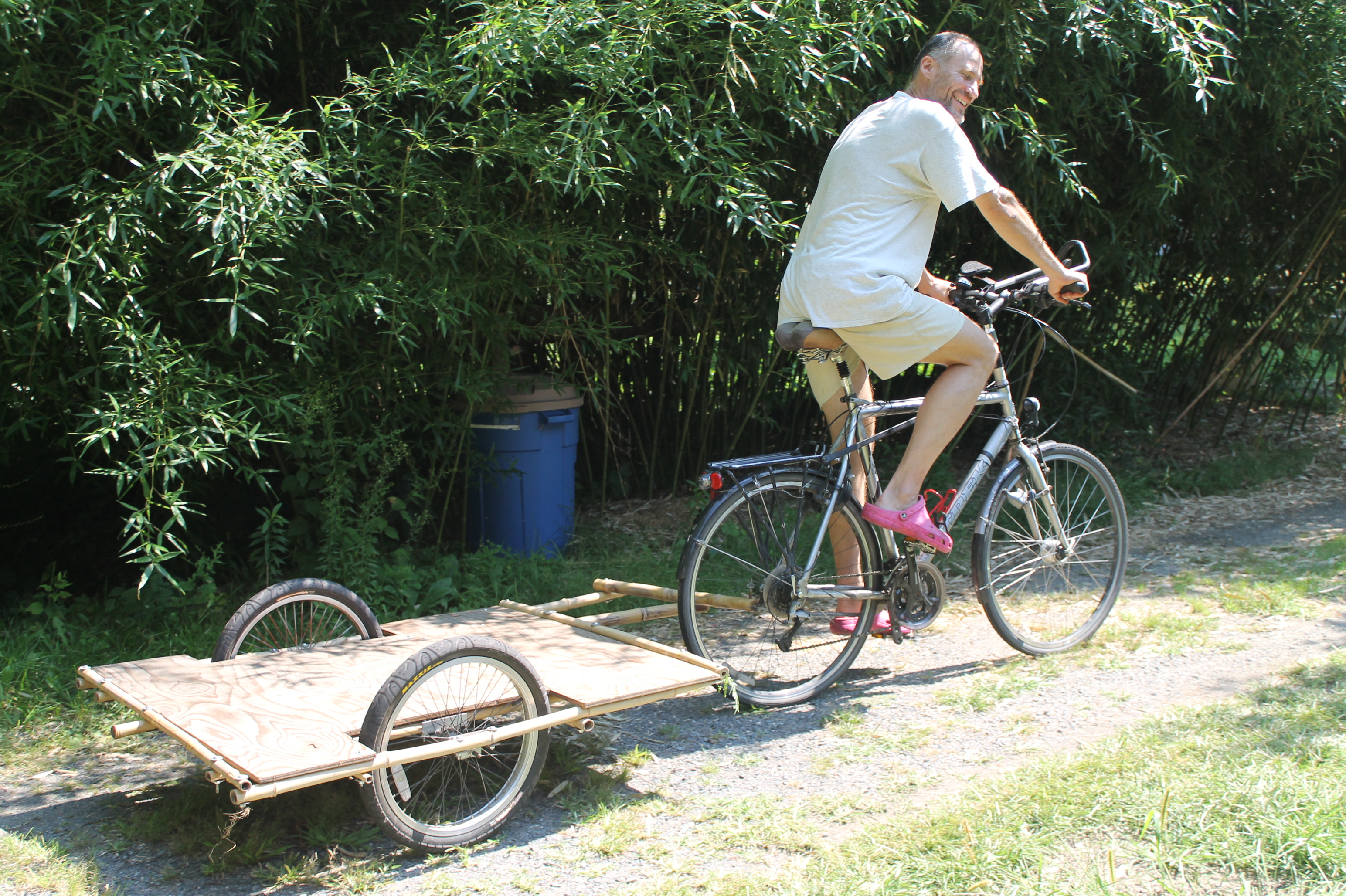Building Bamboo Bicycle Trailers