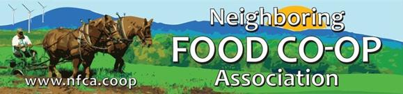 Neighboring Food Co-op Association The Neighboring Food Co-op Association (NFCA) is a network of more than 25 food co-ops that are working together toward a shared vision of a thriving regional economy, rooted in a healthy, just and sustainable food system and collaboration among co-ops.