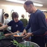 Gabor and Peg making soup